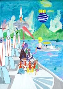 CODEポスターデザインコンペティション「神戸からロケットをとばそう」